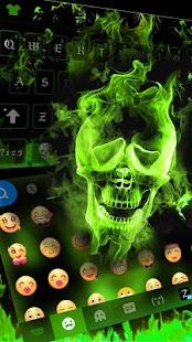 Hellfire Skull keyboard Uniqueness Theme - náhled