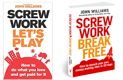 Screw Work Lets Play and Screw Work Break Free Book Covers by John Williams at The Ideas Lab crop