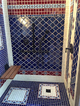 Photo: Malibu Tile Works - Outdoor Shower - Private Residence - Long Beach, CA