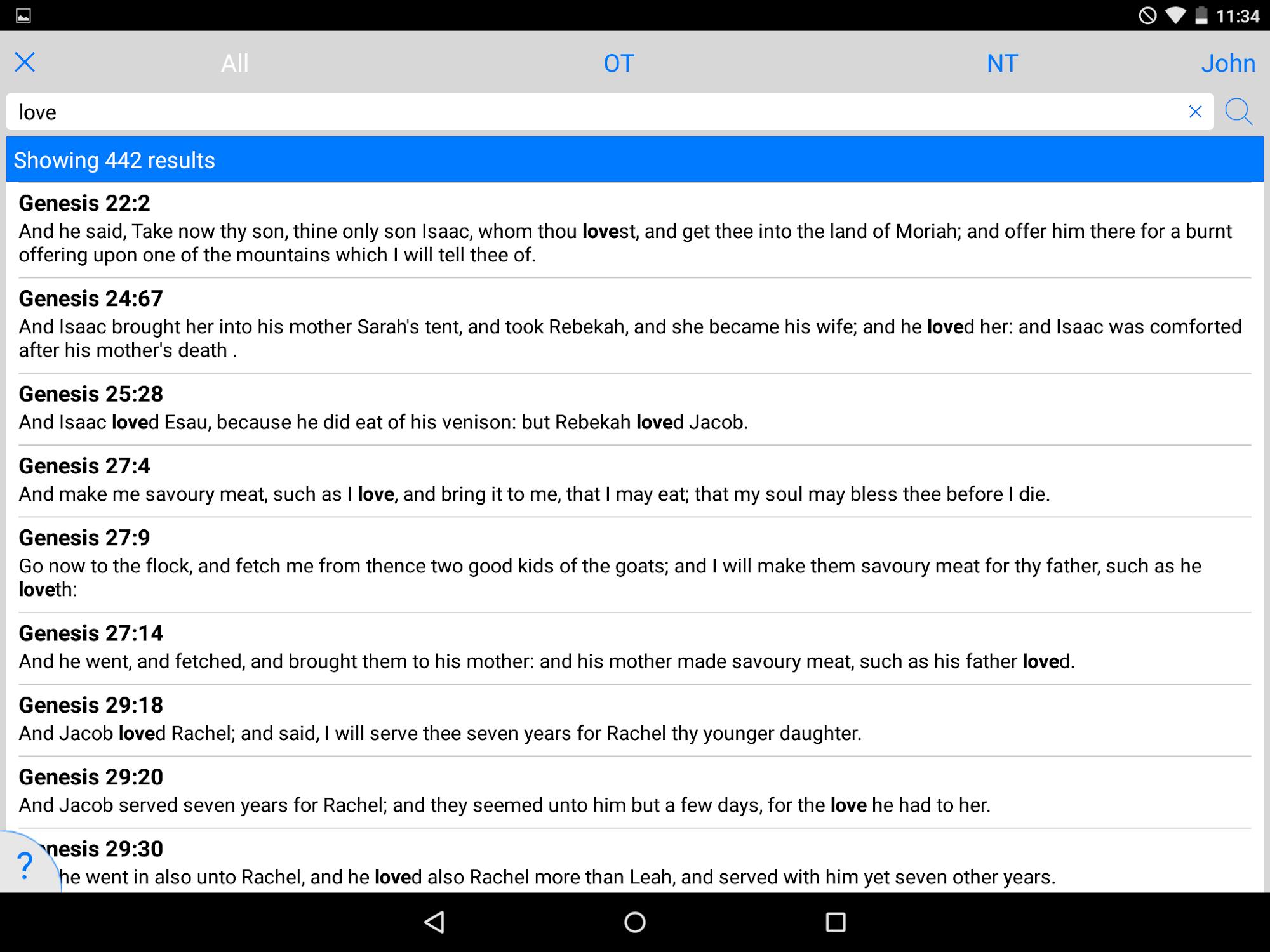 NKJV Bible screenshot #14