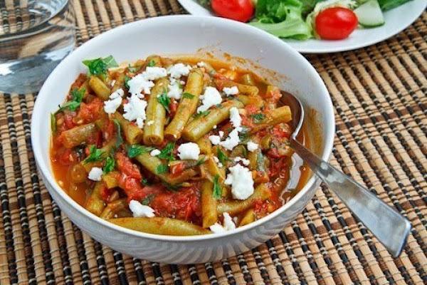Greek Green Beans In Tomato Sauce (fasolakia) Recipe