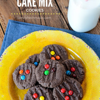 M&M Chocolate Cake Batter Cookies