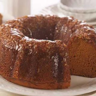 Pumpkin Pecan Rum Cake