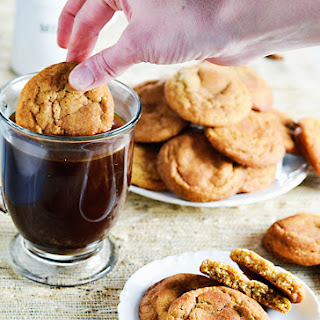 Brown Butter Cornmeal Snickerdoodle Cookies.