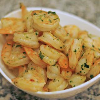 Sauteed Garlic Shrimp.