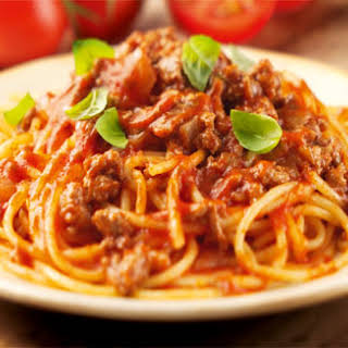 Spaghetti Bolognese .