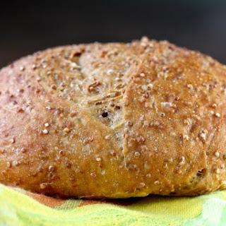 No Knead Quinoa Bread.