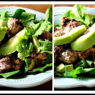 Braai Day Salad – Green Salad with Sausage, Avocado & A Coriander Dressing.