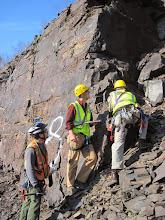 Photo: Paul, Nathan, and David taking some measurements.