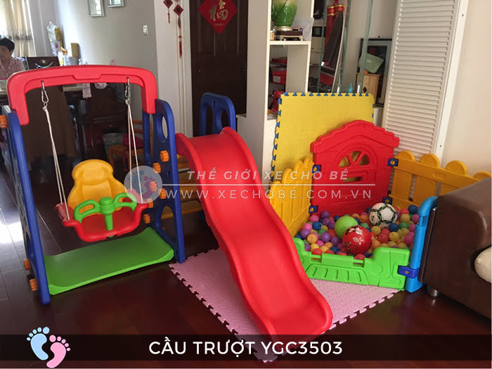 Cầu trượt trẻ em đa năng YGC-3503 9