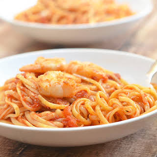 Shrimp and Linguine Fra Diavolo.