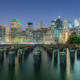 The classic shot by Razvan Iliescu - City,  Street & Park  Skylines ( water, skyline, sky, skyscraper, night, manhattan, travel, cityscape, new york city, new york, river, city )