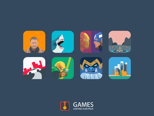 Lanting Icon Pack Apps for Android screenshot