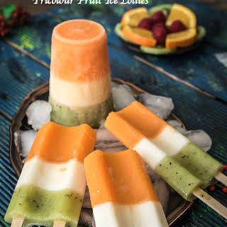Homemade Ice Cream Popsicle Recipe | Fruit Juice Ice Lollies (Pops) | Tricolour popsicle Recipe | Independence Day Special.