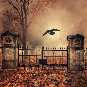 The house behind the gate by Caras Ionut - Digital Art Places ( http://www.carasdesign.ro/new-tutorials-available/tutorials-of-2013 )