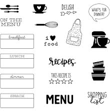 Simple Stories Carpe Diem Photopolymer Clear Stamps - On The Menu
