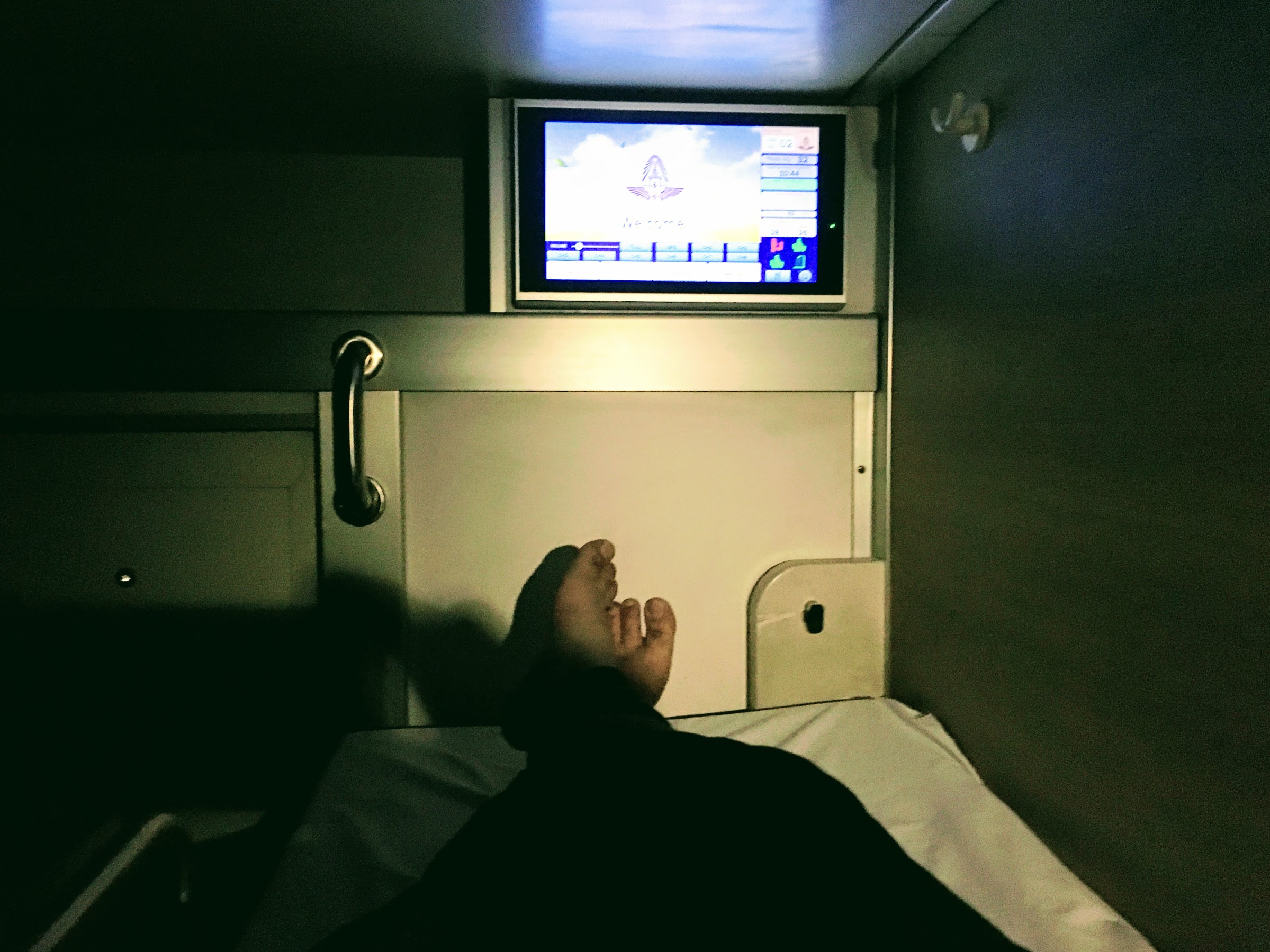 It is very comfortable to sleep inside the first class cabin.
