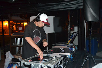 Photo: DJ Matty Mo kept the night moving with his work on the 1's and 2's