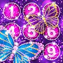 🦋 Butterfly Diamond Lock Screen App 🦋 icon