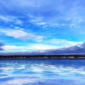 Frozen by Chris Timmerman - Landscapes Waterscapes ( reflection, winter, cold, nebraska, river,  )