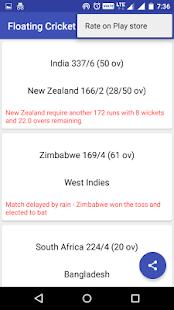 Floating cricket score - Live cricket scores - náhled