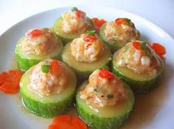 Cucumber Shrimp Snacks