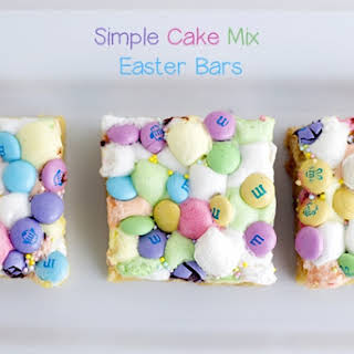 Simple Cake Mix Easter Bars.