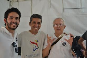 Photo: Juan, José Eddy y Héctor proyectando energía