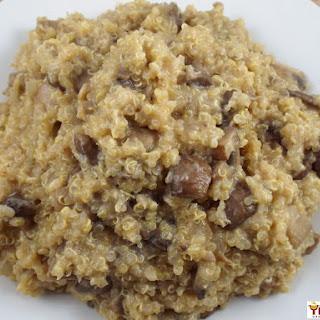 Creamy Mushroom Quinoa Risotto.