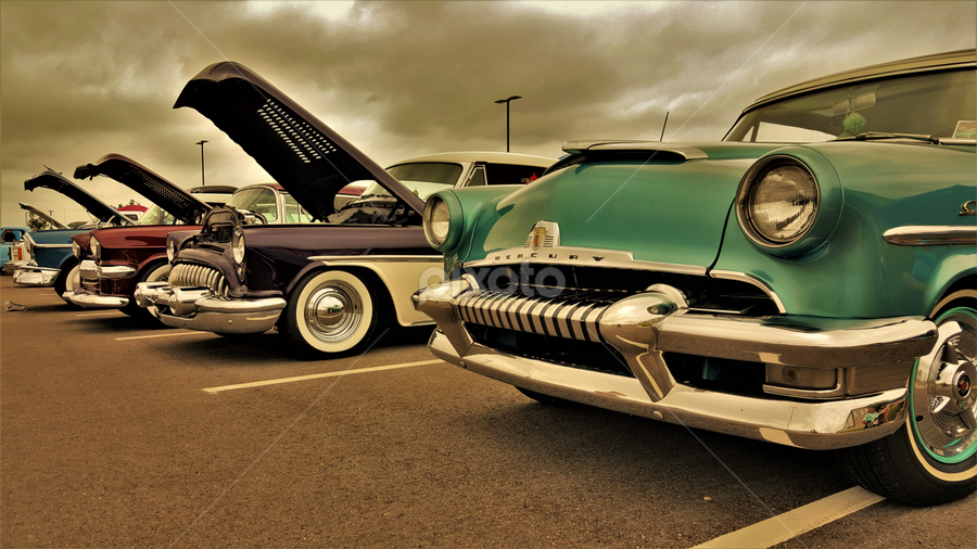 Line up by Benito Flores Jr - Transportation Automobiles ( cars, temple, oldies, texas, car show )