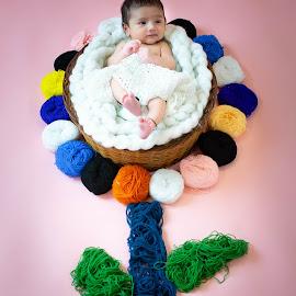Flower by Shashi Patel - Babies & Children Babies ( love, baby photographer, kids photographer, newborn, india, flower, shashiclicks, shashi patel, hyderabad, baby, newborn photography, photography, kids )