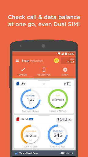 Mobile Balance Check&Recharge app (apk) free download for Android/PC/Windows screenshot