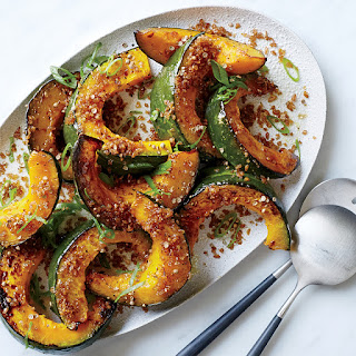 Roasted Squash with Crispy Bulgur Crumbs.