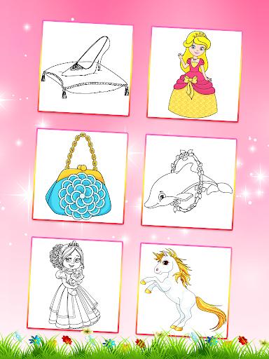 Princess Coloring Book 2 android2mod screenshots 5
