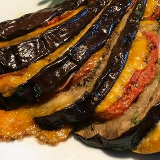 Baked Eggplant with Cheese.