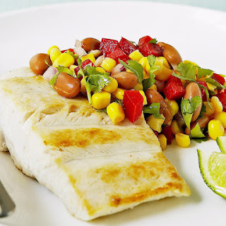 Sea Bream with Bean and Pepper Salsa