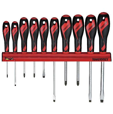 Skruvmejselsats med väggställ Teng Tools WRMD10N