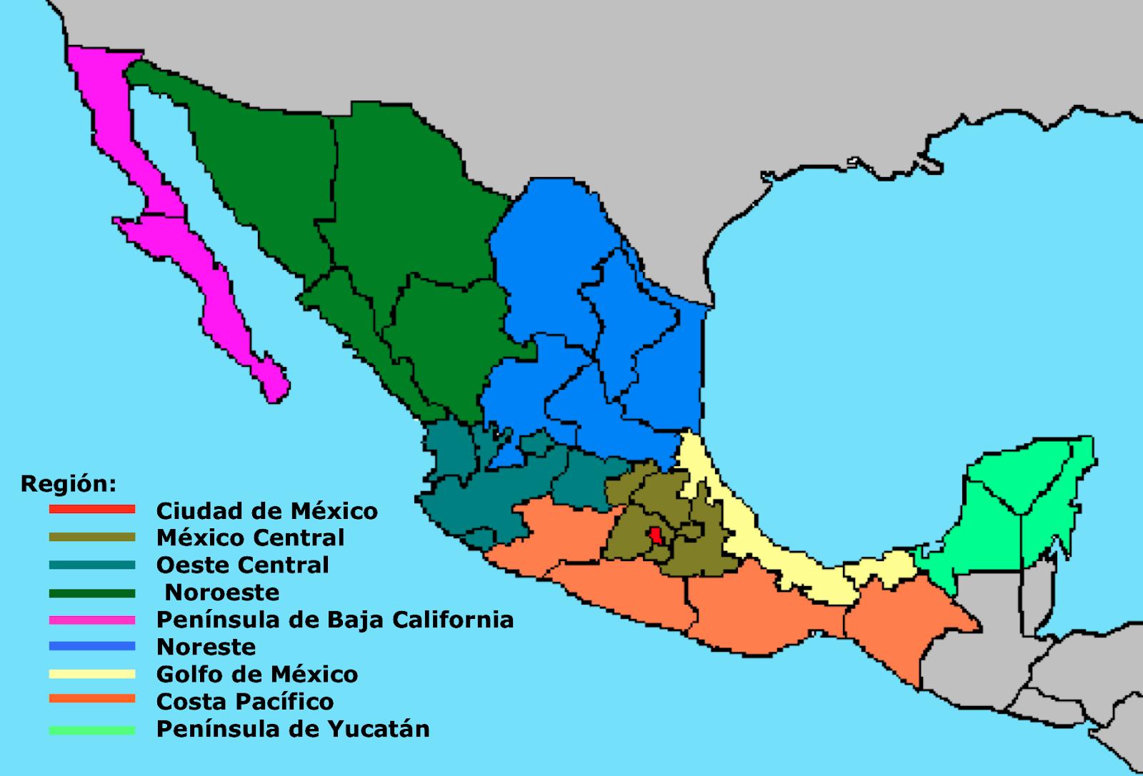 Regiones de México según la guía Michelin
