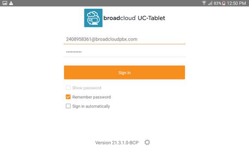 BroadCloud UC-Tablet US