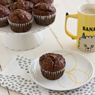 Dark Chocolate Banana Breakfast Muffins.