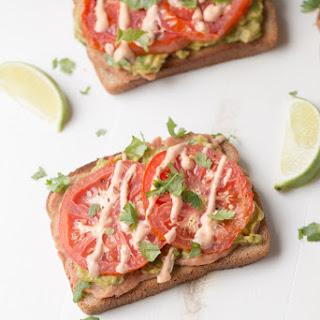 Avocado Tomato Toast (vegan + healthy fats)