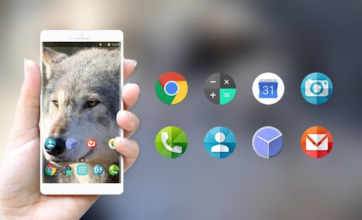 Theme for Nokia 208 dual-SIM Wolf Wallpaper - náhled