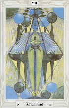 Photo: VIII. Adjustment - A Justiça Thoth Tarot Crowley