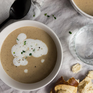 Chestnut Soup with Truffle Froth