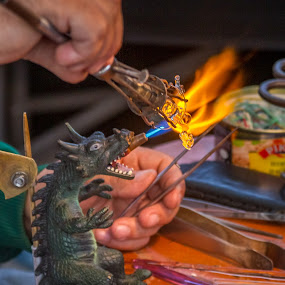 Dragon fire by Valics Lehel - Artistic Objects Other Objects ( craftmen, artisan, glass, dragon, handmade, hand made, fire,  )