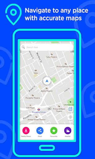 Voice GPS Driving Directions u2013Lite, GPS Navigation 3.0.4 screenshots 1