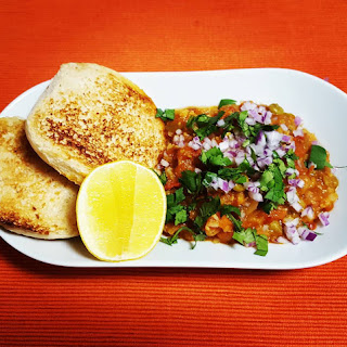 Bombay Style Pav Bhaji Recipe | Mashed Vegetables in Spiced Tomato & Butter Gravy.