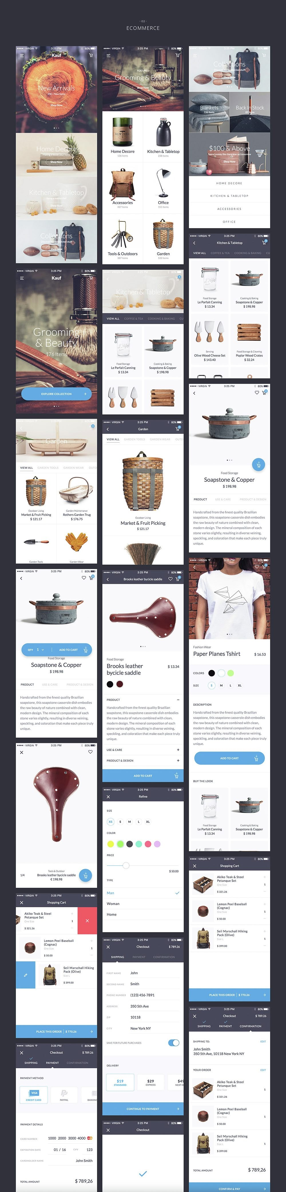 Kauf iOS UI Kit – 67+ Template for Sketch – Sourcepsd com