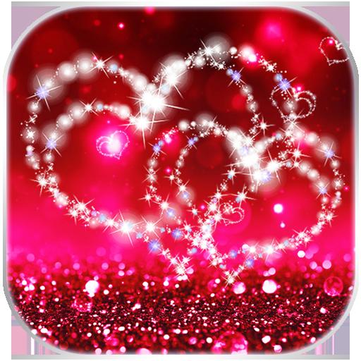 Glitter Love Sparkle Keyboard Theme