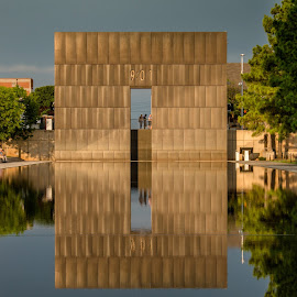 Oklahoma City Bombing Memorial by Rhonda Mullen - Buildings & Architecture Statues & Monuments (  )